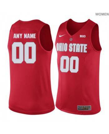 Women's Nike Ohio State Buckeyes Customized Authentic Red Jersey